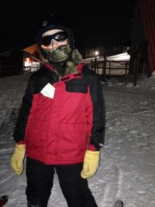 Aaron skiing