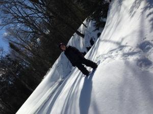 Andrew snowshoeing